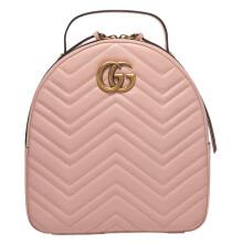 GUCCI 古驰 女士粉色牛皮GG装饰双肩背包 476671 DTDHT 3120