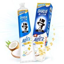 黑人(DARLIE)超白密泡小苏打美白牙膏140g去牙渍 去黄牙