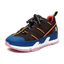 博柏利 BURBERRY 女款多种面料休闲运动鞋咖啡色蓝色多色 80165151 39码