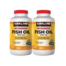 柯克兰Kirkland 美国深海鱼油omega-3欧米伽3 Fish Oil 400粒*2