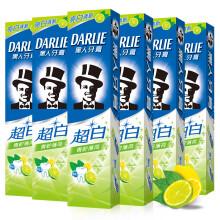 黑人(DARLIE)超白青柠薄荷美白牙膏6支(共840g)美白牙齿 去牙渍 亮白清新