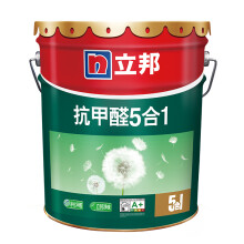 京东超市立邦漆 抗甲醛净味五合一乳胶漆环保内墙漆油漆墙面漆 18L