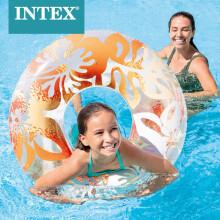 INTEX 59251成人救生圈浮圈游泳圈腋下圈成人加厚游泳圈 新款老款随机发 黄色 泳圈颜色随机发