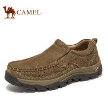 骆驼(CAMEL) 牛皮大休闲旅游套脚工装鞋男 A932307060 咖啡 41