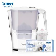 倍世(BWT)净水器 家用滤水壶 净水壶 过滤壶 思镁系列 Slim 3.6L 典雅白 去水垢加强版 1壶4芯装