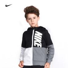 京东超市耐克Nike YA男中小儿童运动连帽卫衣新款春秋装潮拉链开衫外套83421HO723 4(110/52)