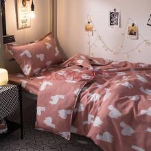 单人床三件套 北欧床上用品床单网红1.5m被套三件套学生宿舍单人 银色 1.8米床四件套