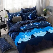 索罗兰 学生宿舍被褥套装被子全套单人0.9米六件套床上用品组合寝室上下铺床单被套被罩三件套1.2m 晚安 【床垫款】0.9m床 六件套(被芯5斤)