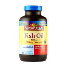 京东国际              20年8月到期【北美老款】Nature Made天维美 无腥味深海鱼油液体软胶囊 全家分享装220粒/瓶
