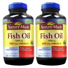 Nature Made 深海鱼油软胶囊 欧米伽3鱼油 美国原装进口 220粒 2瓶