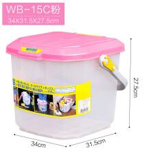 洗车工具收纳箱 爱丽思IRIS车用后备箱工具箱 车载储物箱储水桶洗车桶RV-25B WB-15C粉 收藏优先发货