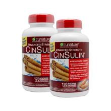 京东国际              TruNature CinSulin 肉桂+酵母铬降低血糖胶囊保护心血管控制体重170粒 两瓶