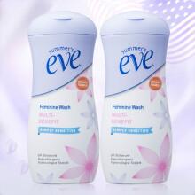 京东超市夏依eve 女性专用护理液 私处敏感洗液加量装(119ml*2)含益生元和乳酸  原装进口