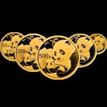 【中泉钱币】2019年熊猫银币 熊猫纪念币 不倒翁熊猫银币 猫币 熊猫纪念银币 金币总公司发行 2019年金套猫