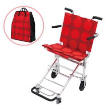 日本中进轮椅折叠轻便小NAH-207便携老年人旅行飞机超轻代步车老人飞机旅行轮椅 红色圆点款
