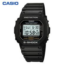 卡西欧(CASIO)手表 G-SHOCK 头文字D 男士防水防震运动手表石英表 DW-5600E-1V