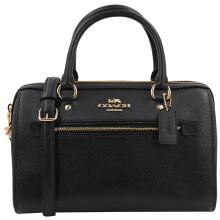 蔻驰 COACH 奢侈品 女士中号波士顿包手提肩背斜挎黑色皮质 F79946 IMBLK