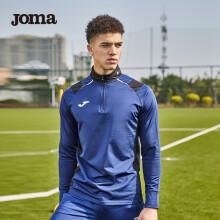 JOMA荷马足球服长袖男半拉链训练衫秋冬季反绒保暖训练运动长袖上衣 深蓝 XXL