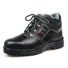 强人 ZCM3007 钢包头钢底防砸防刺穿安全劳保防护加绒款保暖工作鞋 黑色 39码