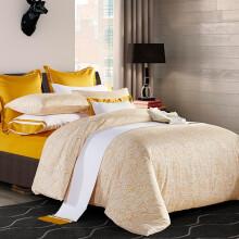 雅棉amain尼斯酒店床上被套全棉4四件套简约清新学生双人1.8m床 黄色 1.5米床适用