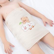京东超市欧育婴儿护肚围1-6岁防踢被儿童肚兜可调节加棉护肚脐围腹围B1076 小熊小象