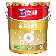 京东超市立邦 金装净味五合一 油漆涂料内墙乳胶漆 墙面漆 18L