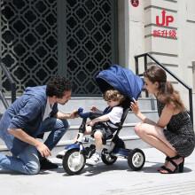 小虎子儿童三轮车脚踏车溜娃神车可折叠躺倒座位转向遛娃车小孩手推车1-3岁T300升级 t300-7星际蓝(全能款)