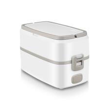 电加热饭盒插电保温上班族小型便当带饭煲锅蒸煮热饭1人2人家用 灰色带2个不锈钢内胆