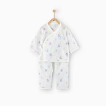 京东超市童泰婴儿衣服0-3月新生儿棉纱和服套装 TS02J065 蓝 52