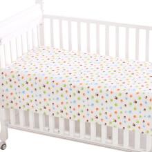 象宝宝(elepbaby)婴儿床单 棉针织新生宝宝幼儿园儿童床婴儿床床单140x90cm奇趣脚丫
