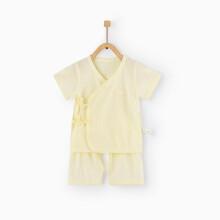 京东超市 童泰夏季新款婴儿衣服0-3月新生儿纯棉开裆宝宝和服套装 TS02J060 黄色 59