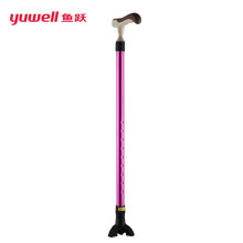 鱼跃(YUWELL)铝合金手杖拐杖助步器可伸缩三角垫防滑老人助行器YU828