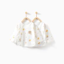 京东超市童泰婴儿家居服新生儿半背衣两件装 TY93J857 黄色 52