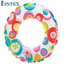 INTEX 59230流行浮圈充气游玩装备儿童泳圈救生圈游泳圈内径28cm 适合6-10岁 随机发