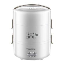 优益(Yoice) 电热饭盒三层保温加热饭盒便当盒白色Y-DFH16