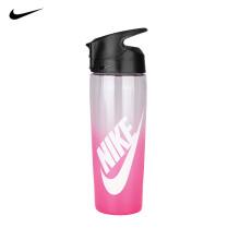耐克NIKE健身运动水杯子吸管便携水壶新型塑料耐高温男女儿童水瓶 473ml蓝色半透明吸管 N000003598716 便携式渐变玫红带吸管