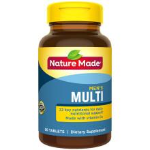 nature made天维美 男性综合维生素 多种维生素 90粒/瓶 男士维生素 男士复合维生素 复合维生素b