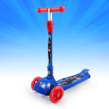 迪士尼漫威(MARVEL)儿童滑板车 2-3-6-8岁小孩 折叠升降滑步车摇摆车 四轮闪光加宽脚踏车平衡车 美国队长