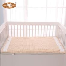 京东超市良良(liangliang)婴儿隔尿垫可洗新生儿宝宝可折叠防水床单防尿麻棉床垫米咖120*70cm