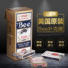 Bee美国原装bee小蜜蜂扑克牌 一条12付装 6红6蓝