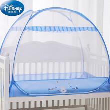 京东超市 迪士尼宝宝(Disney Baby)儿童蚊帐婴儿蚊帐罩婴儿床蚊帐免安装蒙古包蚊帐蓝色米奇130*80cm