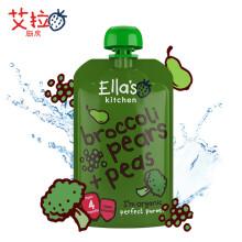 京东国际英国 艾拉厨房Ella's kitchen 有机西兰花香梨豌豆果蔬泥婴儿辅食宝宝零食120g 4个月以上