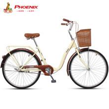 凤凰Phoenix自行车爱娃女式轻便成人城市学生通勤车 24英寸单速优雅米