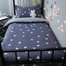 喜寝来家纺 床上三件套 学生宿舍床单被单被套被罩单人1.2米床三件套床上用品 Z爱巢 0.9-1.2米宿舍三件套被套150x200cm