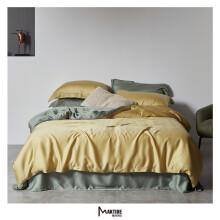 魅可 60双面莱赛尔天丝简约时尚风格工艺款双拼款 床上用品 被套床单套件 预售款3-7天发货 朱莉 1.5床200X230