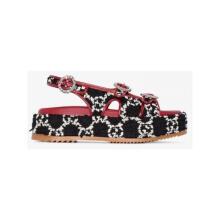 Gucci古驰 凉鞋 女士 奢侈品 angelina 50 boucle 红黑色水晶搭扣凉鞋 图片色0 36.5