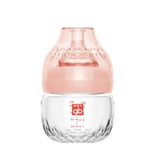京东超市gb好孩子 婴儿玻璃奶瓶 新生儿 婴幼儿 宽口径玻璃奶瓶 仿母乳质感 铂金系列 120ml 藕粉