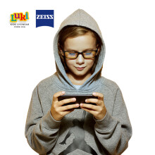 蔡司8-12岁男童 儿童防蓝光护目眼镜  蔡司镜片 进口抗疲劳抗蓝光眼镜 预防手机 平板 电视游戏眼镜 LK1823
