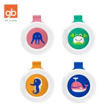 京东超市gb好孩子 植物精油防护扣  婴儿驱蚊 儿童防蚊 驱蚊扣(章鱼+海蟹+海马+鲸鱼) 便携出行  4个装
