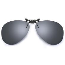 京东超市帕莎(Prsr)高清偏光近视太阳镜夹片男女款开车专用驾驶镜墨镜夹片 PS20D-SC灰水银